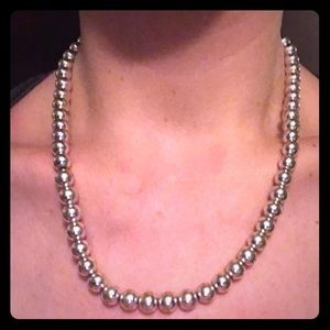 Brooks Brothers Silver Pearls- Necklace & Bracelet